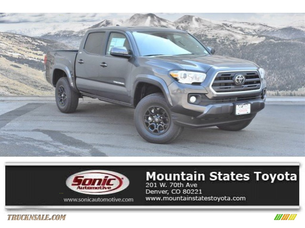 2019 Tacoma SR5 Double Cab 4x4 - Magnetic Gray Metallic / Cement Gray photo #1