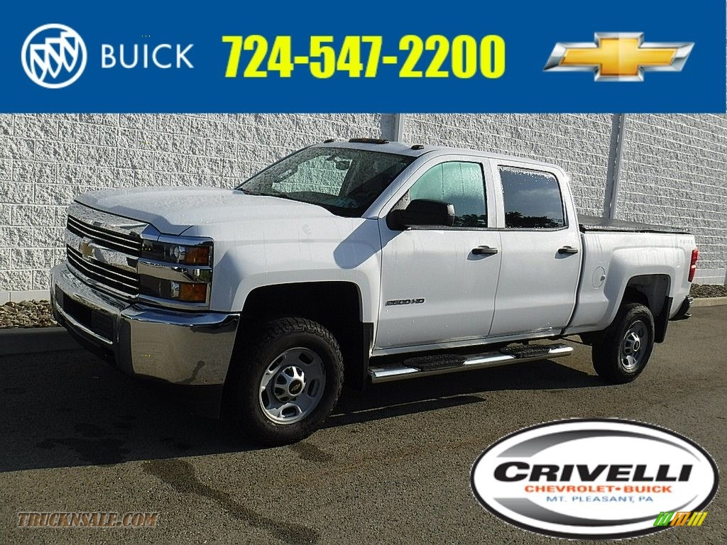 2015 Silverado 2500HD WT Crew Cab 4x4 - Summit White / Jet Black/Dark Ash photo #1