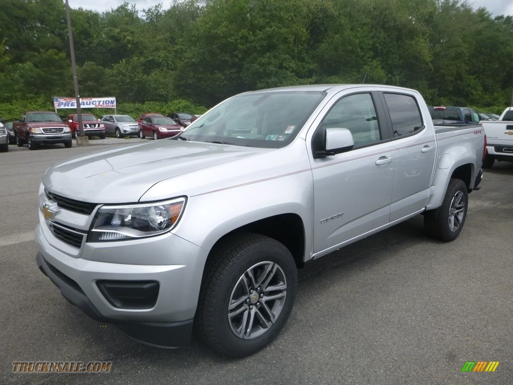 2019 Colorado WT Crew Cab 4x4 - Silver Ice Metallic / Jet Black/Dark Ash photo #1