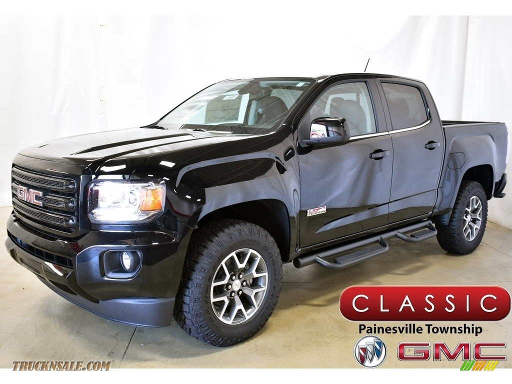2019 Canyon All Terrain Crew Cab 4WD - Onyx Black / Jet Black/­Cobalt Red photo #1