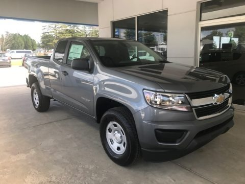 Satin Steel Metallic 2020 Chevrolet Colorado WT Extended Cab