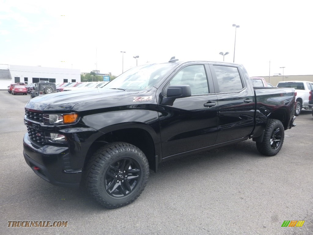 2019 Silverado 1500 Custom Z71 Trail Boss Crew Cab 4WD - Black / Jet Black photo #1