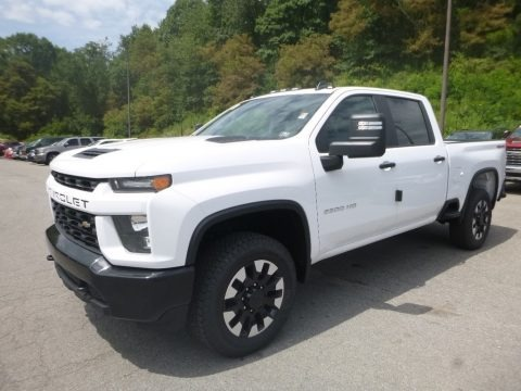 Summit White 2020 Chevrolet Silverado 2500HD Custom Crew Cab 4x4