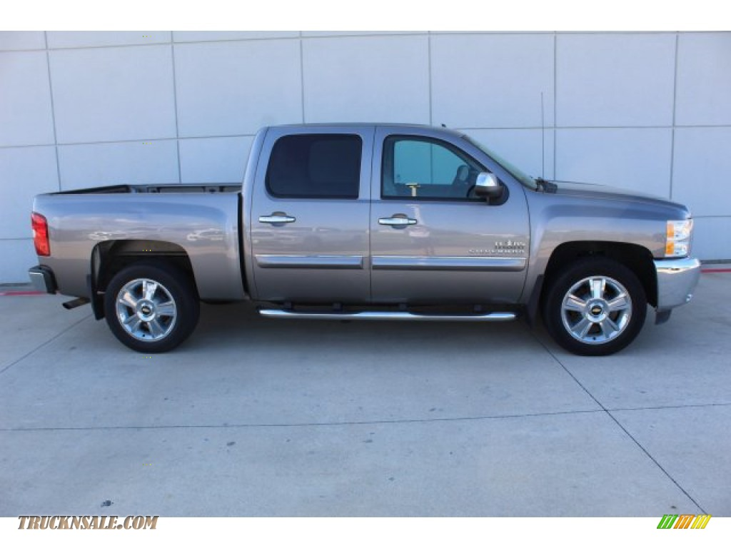 2013 Silverado 1500 LT Crew Cab - Graystone Metallic / Light Titanium/Dark Titanium photo #9