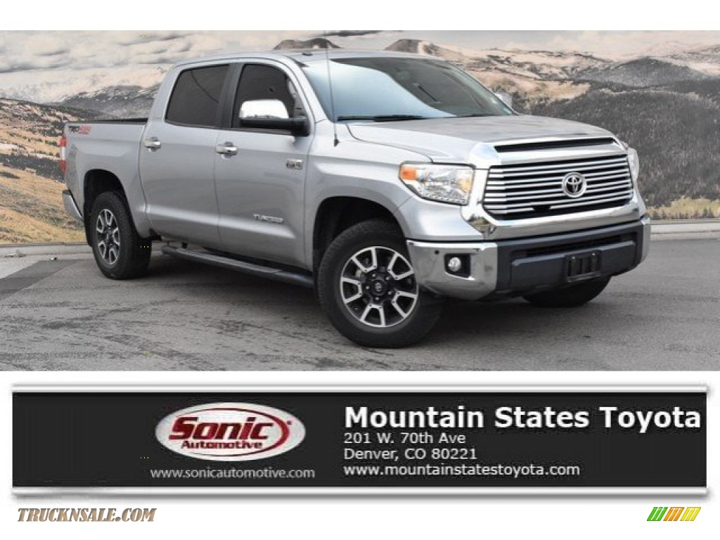 2017 Tundra Limited CrewMax 4x4 - Silver Sky Metallic / Black photo #1