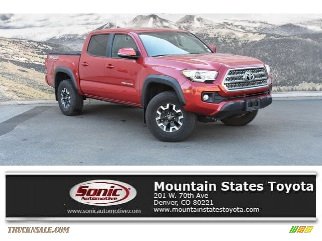 2017 Tacoma TRD Off Road Double Cab 4x4 - Barcelona Red Metallic / TRD Graphite photo #1