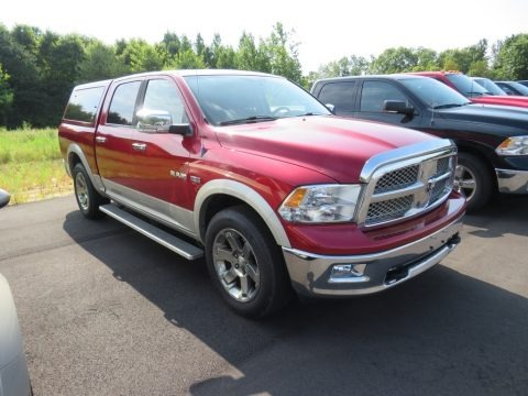 Inferno Red Crystal Pearl 2009 Dodge Ram 1500 Laramie Crew Cab 4x4