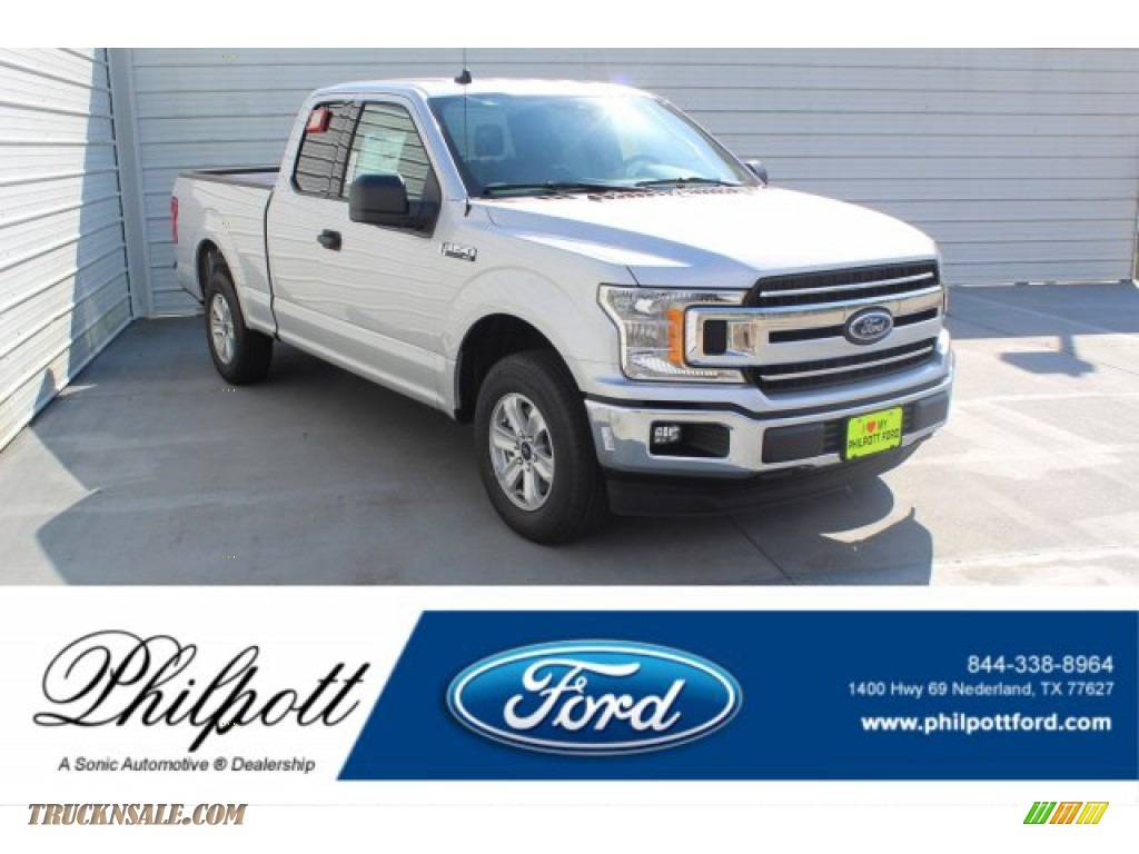 2019 F150 XLT SuperCab - Ingot Silver / Earth Gray photo #1