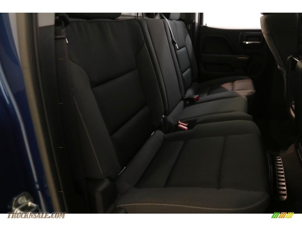 2016 Sierra 1500 SLE Double Cab 4WD - Stone Blue Metallic / Jet Black photo #17