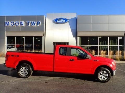 Race Red 2016 Ford F150 XL SuperCab 4x4