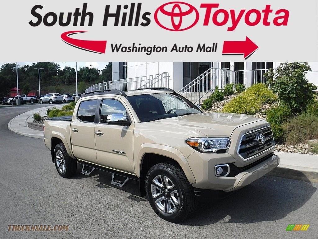 2017 Tacoma Limited Double Cab 4x4 - Quicksand / Limited Hickory photo #1