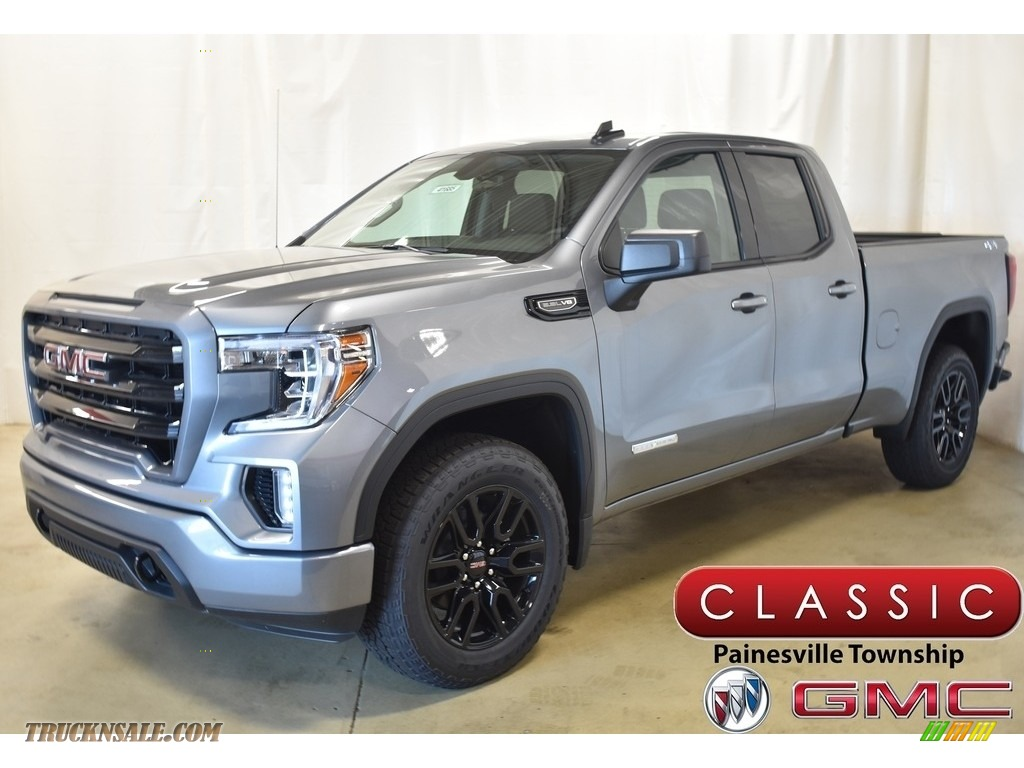 2019 Sierra 1500 Elevation Double Cab 4WD - Satin Steel Metallic / Jet Black photo #1