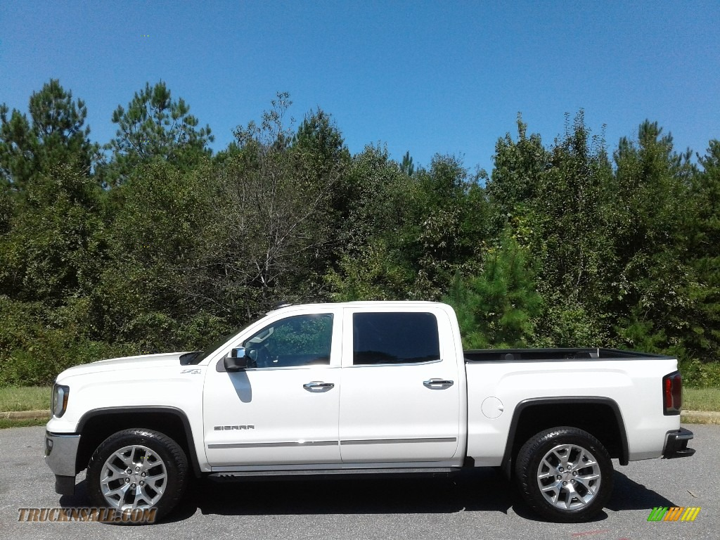 White Frost Tricoat / Cocoa/­Dune GMC Sierra 1500 SLT Crew Cab 4WD