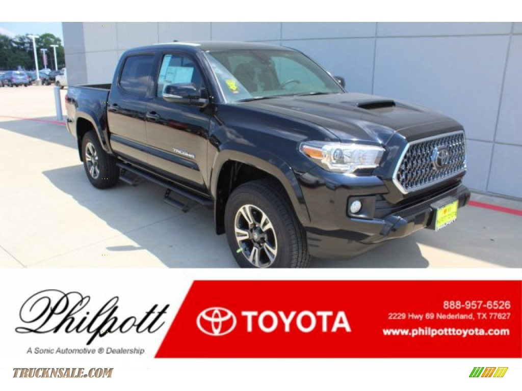 2019 Tacoma TRD Sport Double Cab 4x4 - Midnight Black Metallic / TRD Graphite photo #1