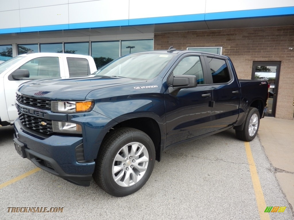 2019 Silverado 1500 Custom Crew Cab 4WD - Northsky Blue Metallic / Jet Black photo #1