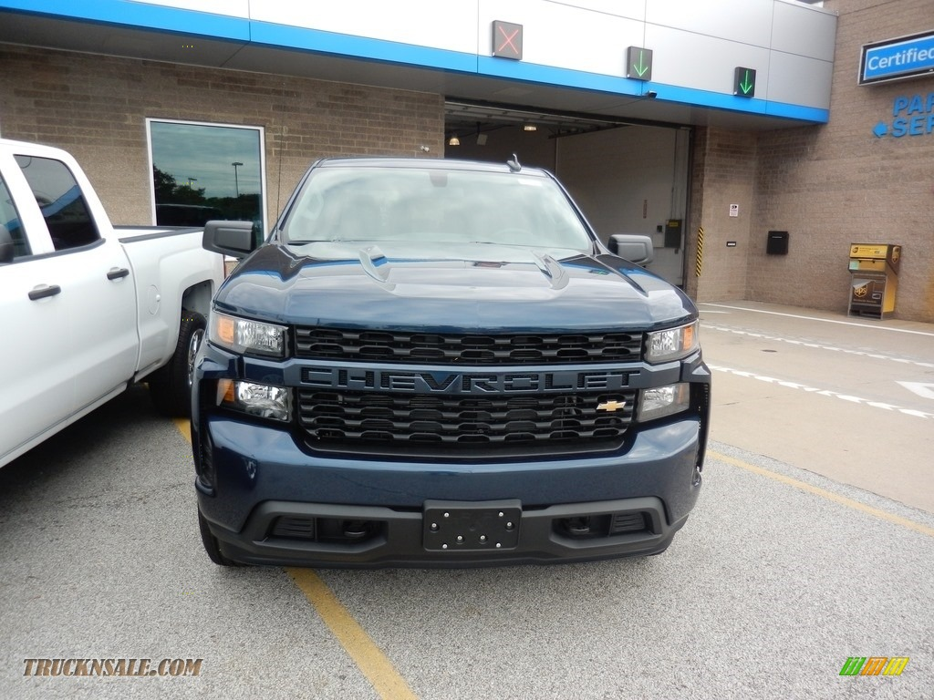 2019 Silverado 1500 Custom Crew Cab 4WD - Northsky Blue Metallic / Jet Black photo #2