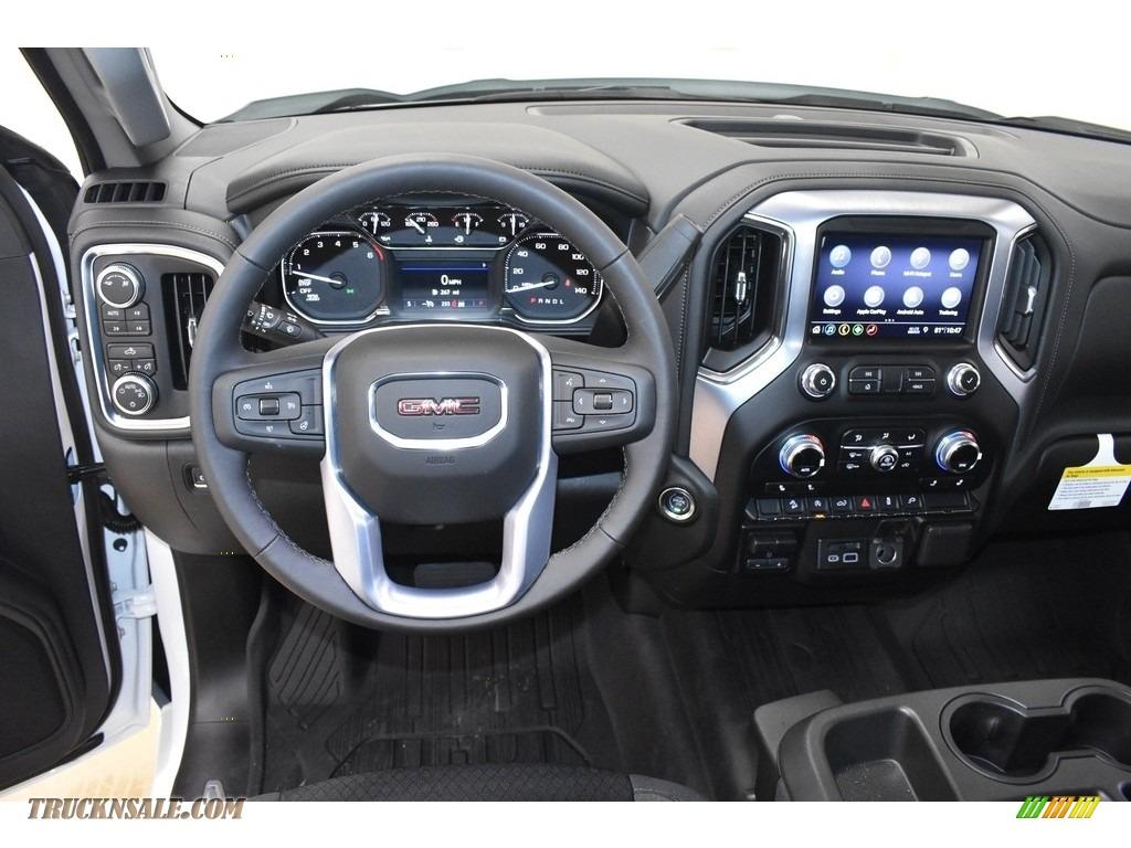 2019 Sierra 1500 SLE Double Cab 4WD - Summit White / Jet Black photo #8