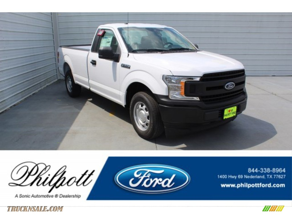 2019 F150 XL Regular Cab - Oxford White / Earth Gray photo #1
