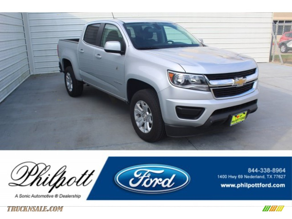 Silver Ice Metallic / Jet Black Chevrolet Colorado LT Crew Cab
