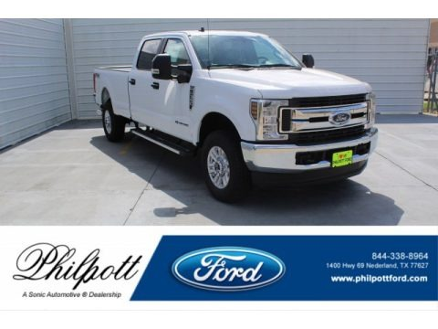 Oxford White 2019 Ford F350 Super Duty XLT Crew Cab 4x4