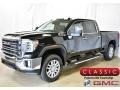 GMC Sierra 2500HD SLT Crew Cab 4WD Onyx Black photo #1