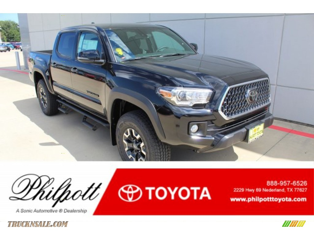 2019 Tacoma TRD Off-Road Double Cab 4x4 - Midnight Black Metallic / TRD Graphite photo #1