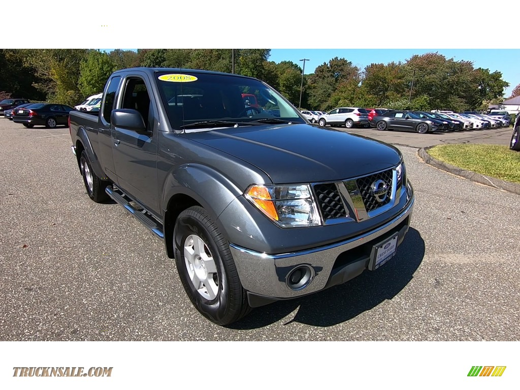 2008 Frontier SE King Cab 4x4 - Storm Grey / Charcoal Black photo #1