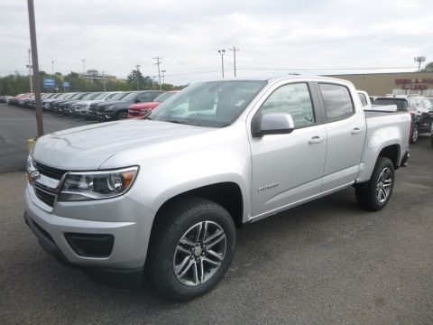 Silver Ice Metallic 2020 Chevrolet Colorado WT Crew Cab 4x4