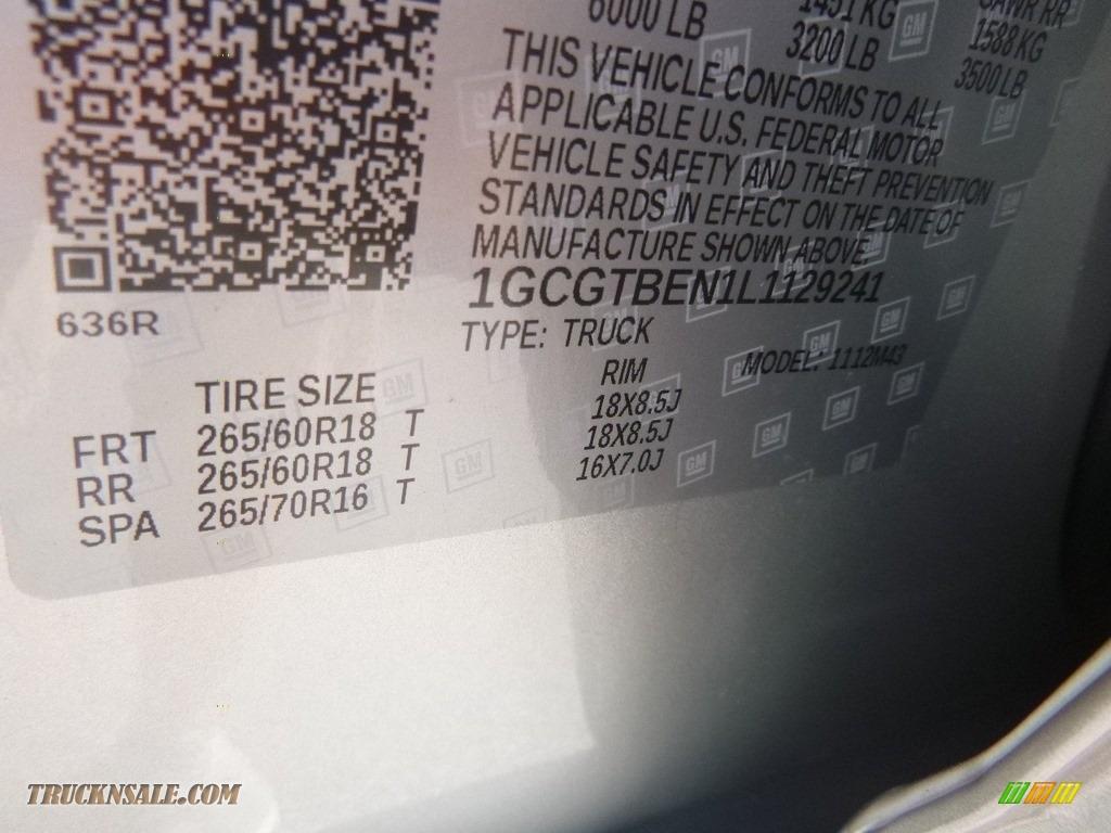 2020 Colorado WT Crew Cab 4x4 - Silver Ice Metallic / Ash Gray/Jet Black photo #16
