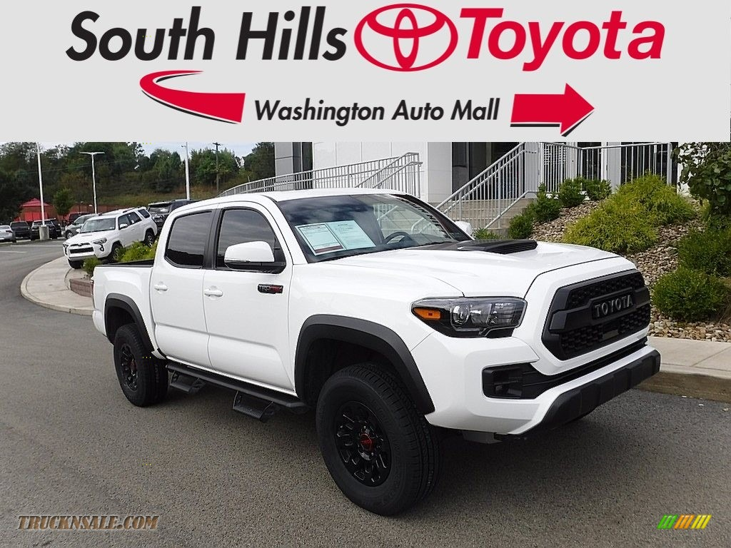 2019 Tacoma TRD Pro Double Cab 4x4 - Super White / Black photo #1
