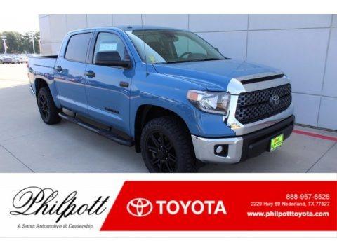 Cavalry Blue 2019 Toyota Tundra SR5 CrewMax 4x4