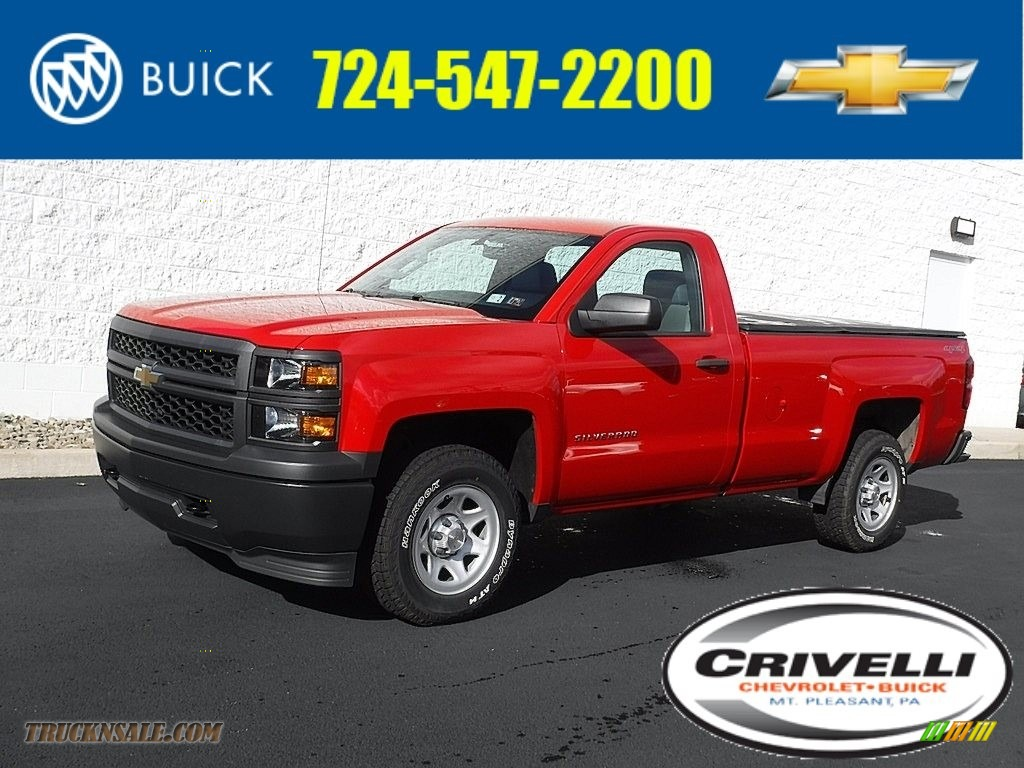 Victory Red / Dark Ash/Jet Black Chevrolet Silverado 1500 WT Regular Cab 4x4