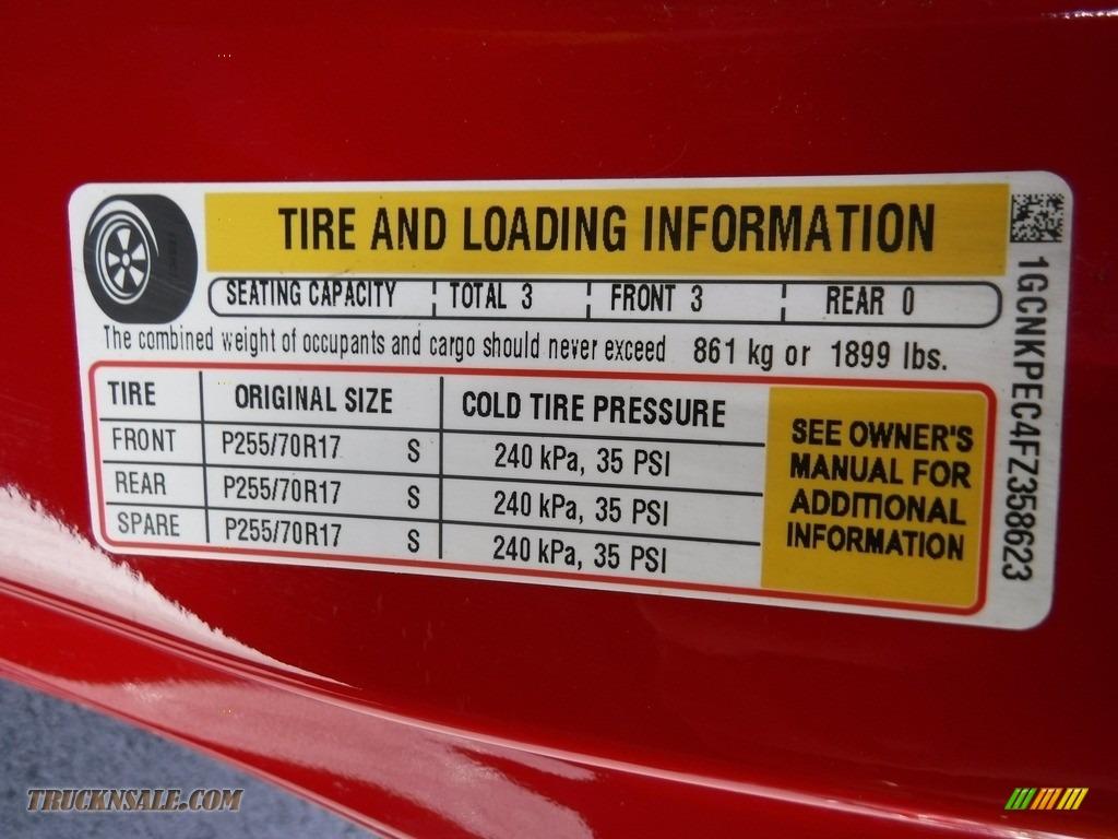 2015 Silverado 1500 WT Regular Cab 4x4 - Victory Red / Dark Ash/Jet Black photo #25