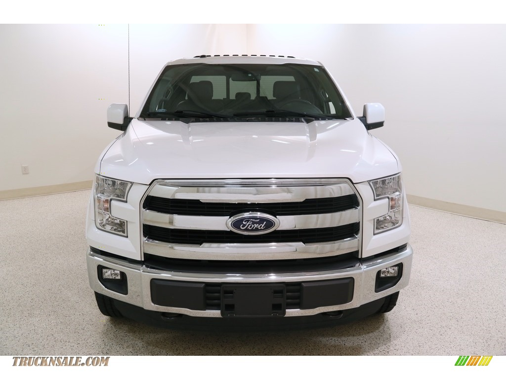 2016 F150 Lariat SuperCab 4x4 - White Platinum / Black photo #2