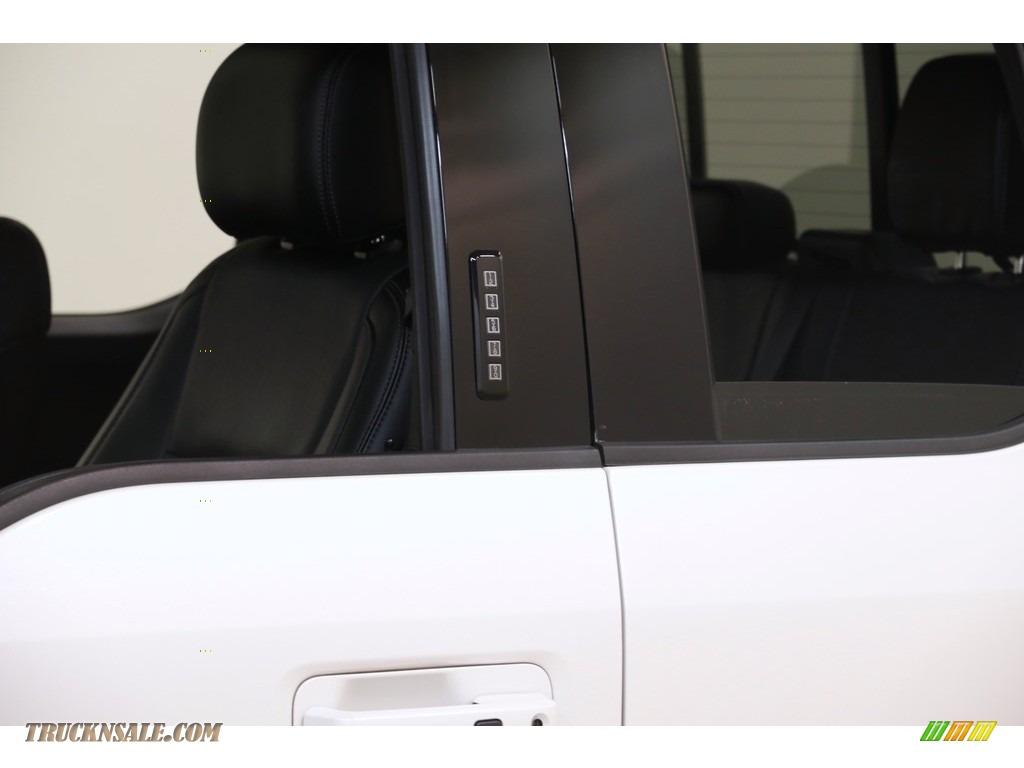 2016 F150 Lariat SuperCab 4x4 - White Platinum / Black photo #4