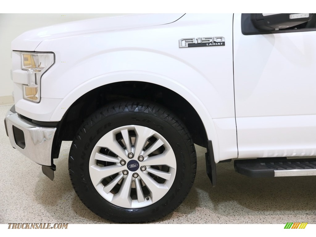 2016 F150 Lariat SuperCab 4x4 - White Platinum / Black photo #27