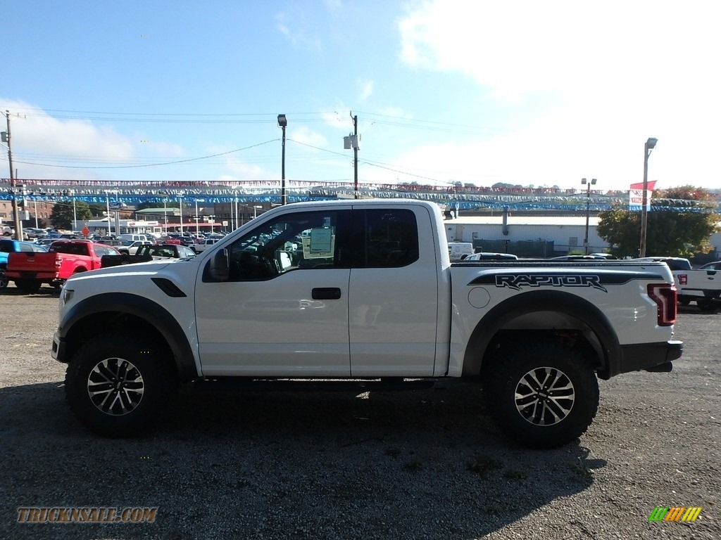 2019 F150 SVT Raptor SuperCab 4x4 - Oxford White / Black photo #5