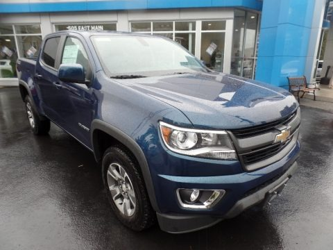 Pacific Blue Metallic 2020 Chevrolet Colorado Z71 Crew Cab 4x4