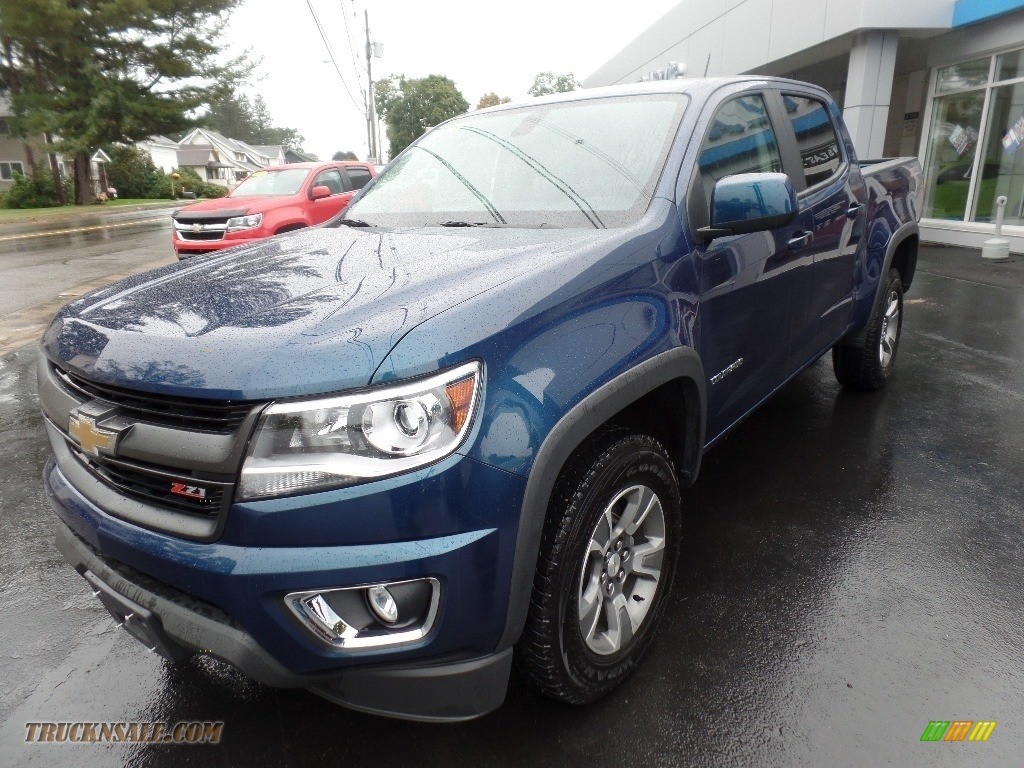 2020 Colorado Z71 Crew Cab 4x4 - Pacific Blue Metallic / Jet Black photo #3