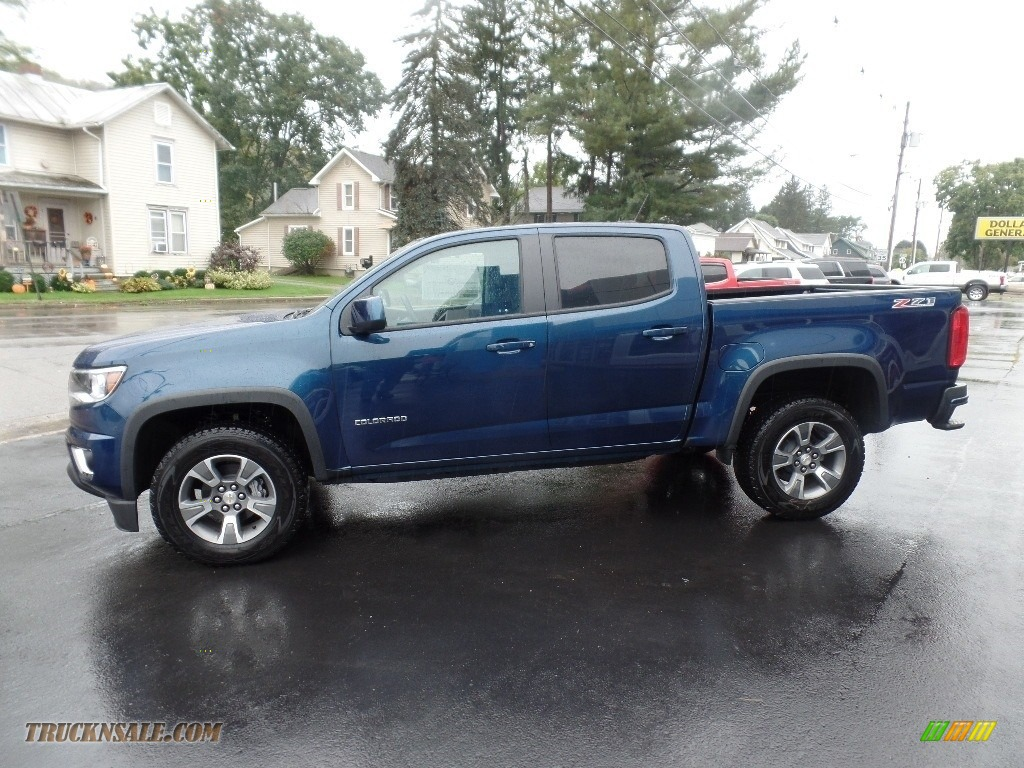 2020 Colorado Z71 Crew Cab 4x4 - Pacific Blue Metallic / Jet Black photo #4