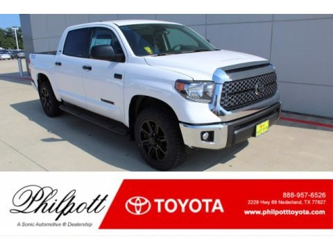 Super White 2020 Toyota Tundra TSS Off Road CrewMax 4x4