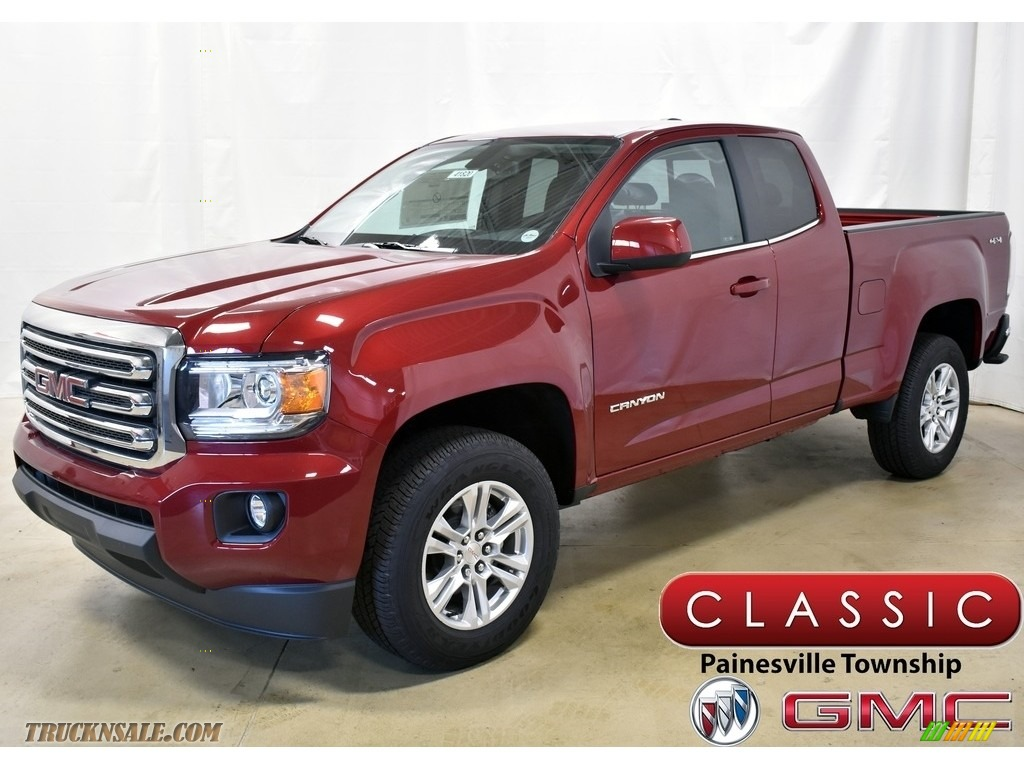 Red Quartz Tintcoat / Jet Black GMC Canyon SLE Extended Cab 4WD