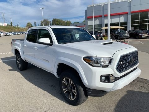 Super White 2019 Toyota Tacoma TRD Sport Double Cab 4x4