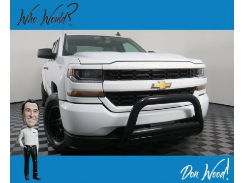 Summit White 2017 Chevrolet Silverado 1500 Custom Double Cab 4x4
