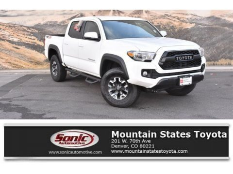Super White 2017 Toyota Tacoma TRD Off Road Double Cab 4x4