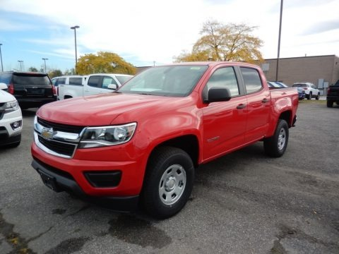 Red Hot 2020 Chevrolet Colorado WT Crew Cab