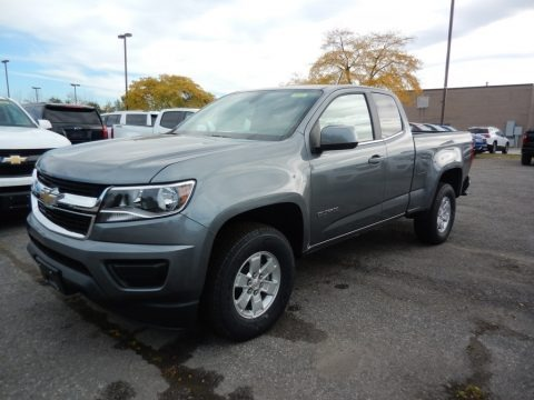 Satin Steel Metallic 2020 Chevrolet Colorado WT Extended Cab 4x4