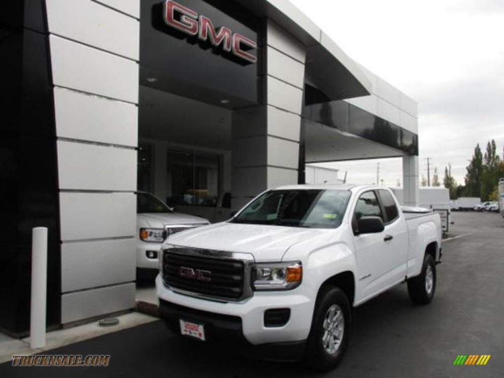 2020 Canyon Extended Cab - Summit White / Jet Black/Dark Ash photo #1