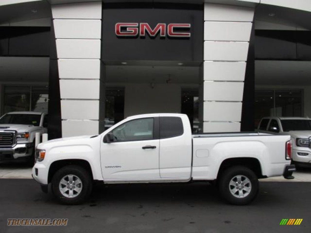 2020 Canyon Extended Cab - Summit White / Jet Black/Dark Ash photo #2