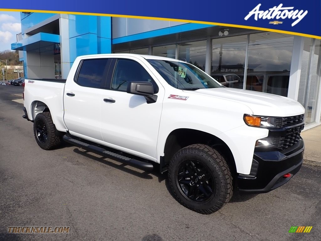 2020 Silverado 1500 Custom Trail Boss Crew Cab 4x4 - Summit White / Jet Black photo #1